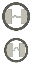 Barbell Compliant Fit drawn wire end-to-end Pin cross section