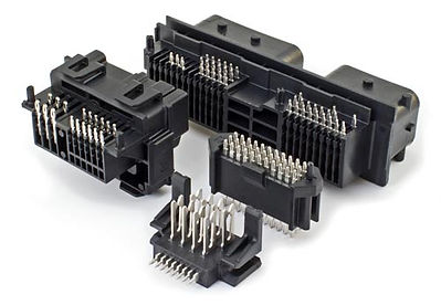 These various connector assemblies, which are completely in-house manufactured, include an airbag controller, seat module, and 48V DC-DC connectors. Each features our approved 0.64mm thick press-fit terminal and customized plastic housings. Terminal insertion is accomplished via automated equipment.