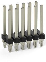 0.81 press-fit dual row vertical terminal header