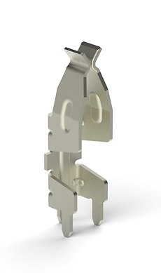 Tr-leg receptacle connector stamped terminal