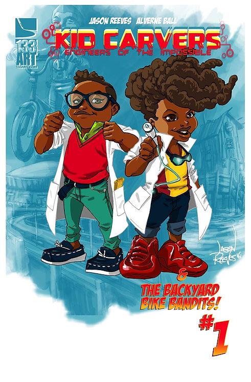Kid Carvers and the Backyard Bandits #1