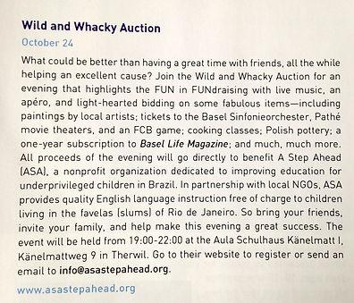 ASA Fundraiser