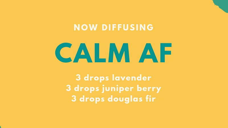 5 mL bottle of Calm AF diffuser blend