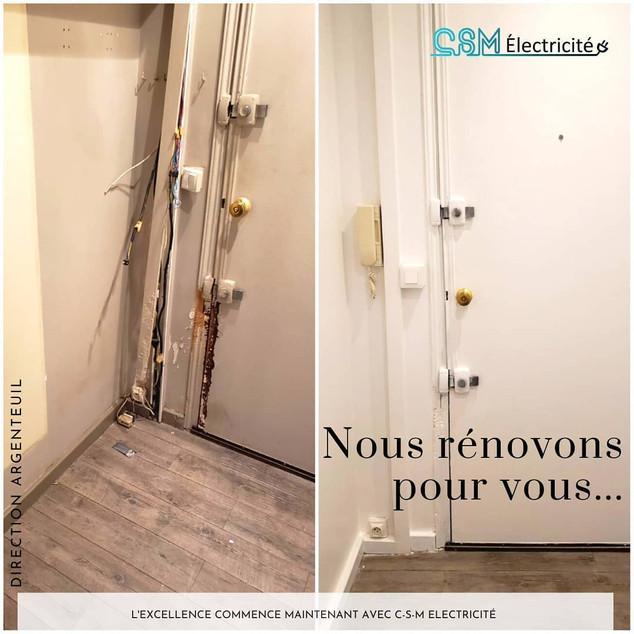 Rénovation de porte - Argenteuil