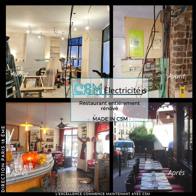 Rénovation restaurant - Paris 18