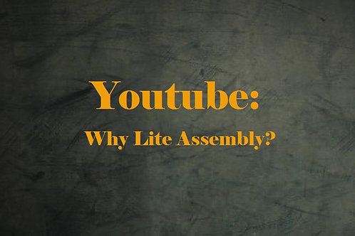 Youtube: Why Lite Assembly?