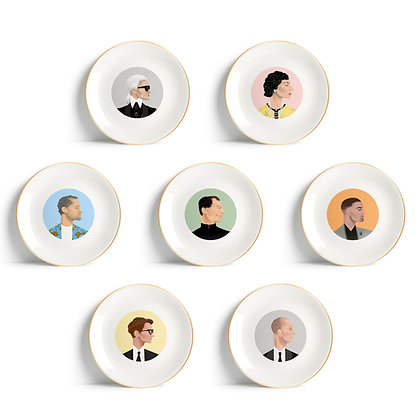 SET OF 7 PLATES - LARGE 27CM by WHO ICONS