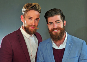 Luke Clifton, 29, and Tom Sheard, 24, are the brains behind Gentlemen's Chuckaboo - a new range of products for men's beards and moustaches.