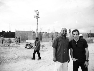 Ben Stiller with the Partners In Health project manager
