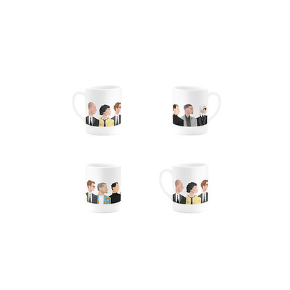 SET OF 4 MUGS by WHO ICONS