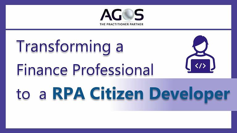 Transforming A Finance Professional to a Citizen  Developer
