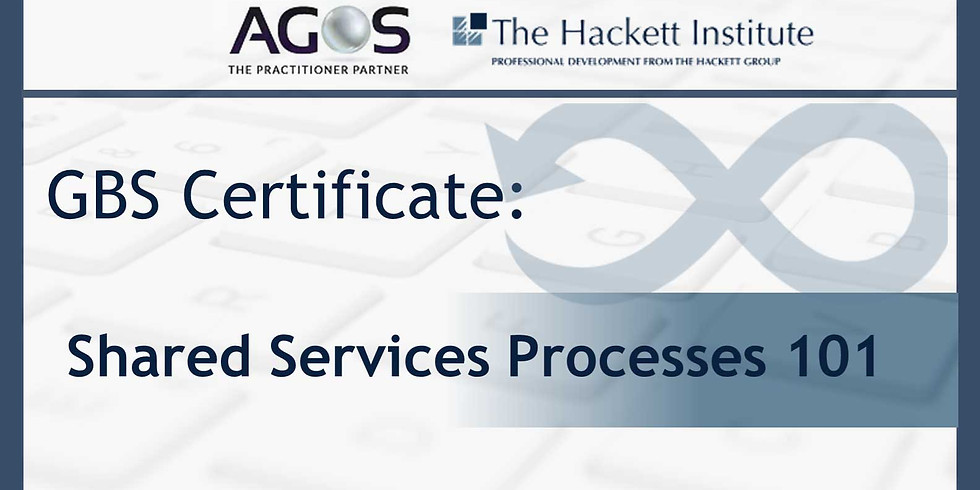 Workshop: GBS Certificate: Shared Services Processes  101