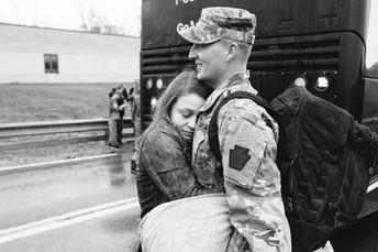 Jessica & Adam - Army Homecoming Photos