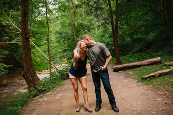 Rachel & Drew - Fall Run Engagement Photos {Pittsburgh Wedding Photographer}