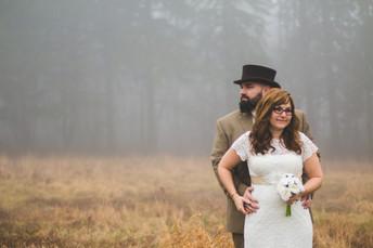 Melissa & Garrett's Lemon House Foggy Wedding