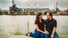 Kayla & Justin - Pittsburgh Point State Park & Northshore Riverwalk Engagement Photos
