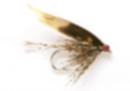 traditional March Brown wet fly pattern.