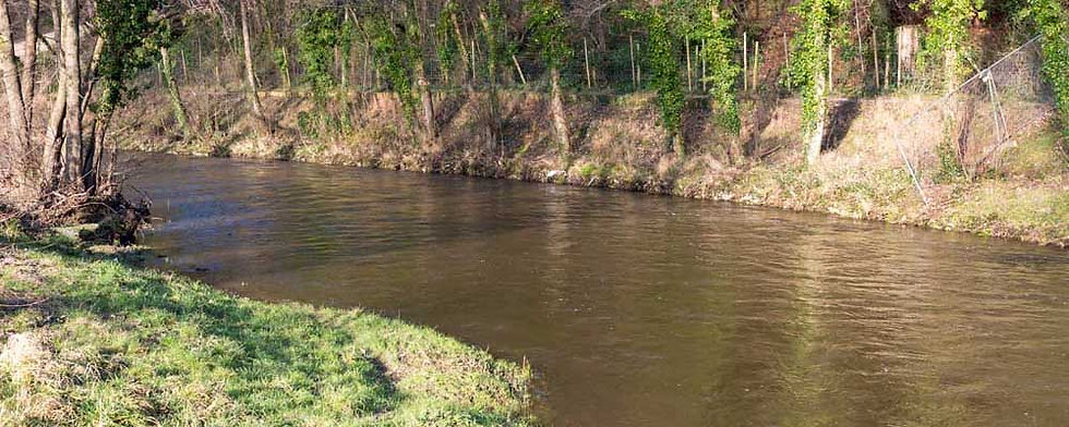A photo of the Town Beat beat of the River Elwy at St Asaph near Rhyl North Wales. Controlled by Rhyl an St Asaph Angling Association, the river Elwy offers fishing for wild brown trout, sea trout and salmon.