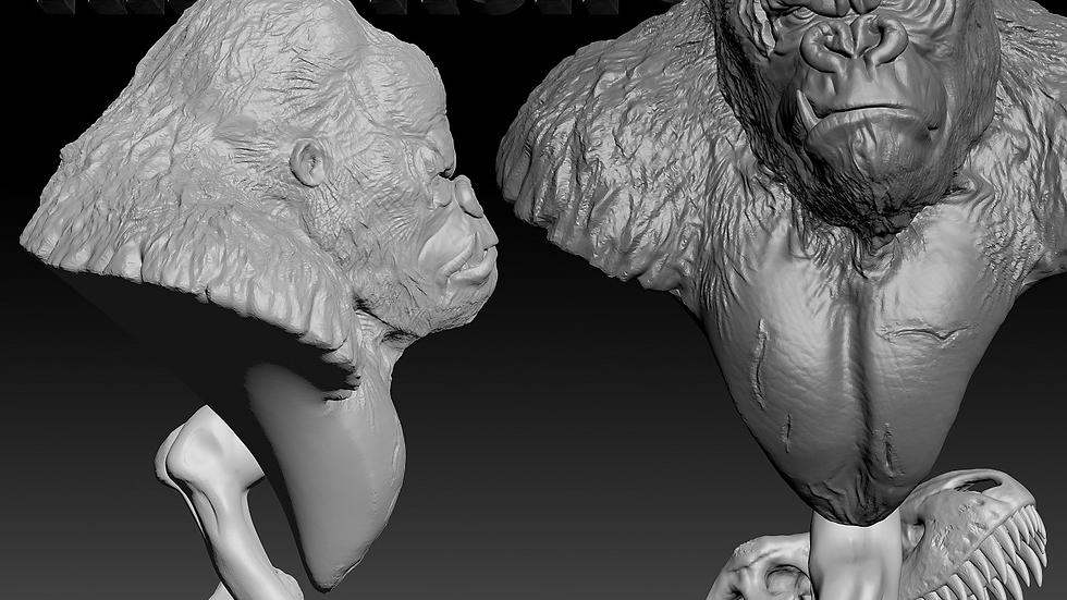 King Kong Bust Model Kit