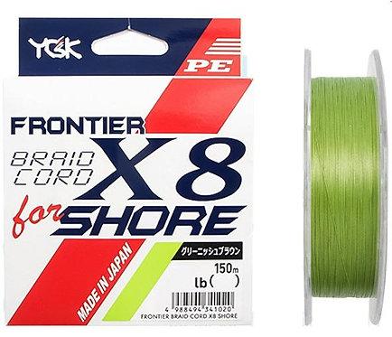 Плетенный шнур YGK FRONTIER BRAID CORD X8 FOR SHORE 150m