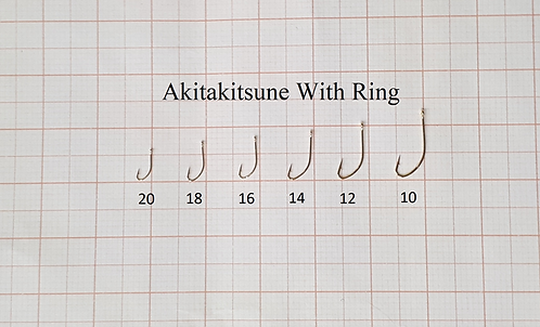 Крючки на корюшку Akitakitsune с кольцом - Золото