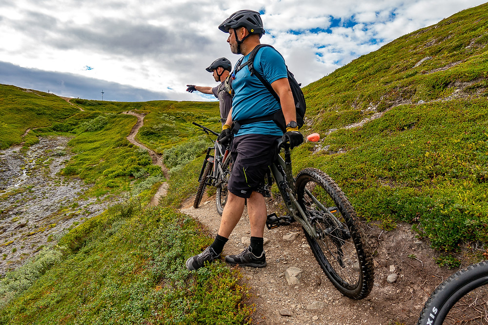 Cykeltur vid pyramiderna, mountainbike, cykel