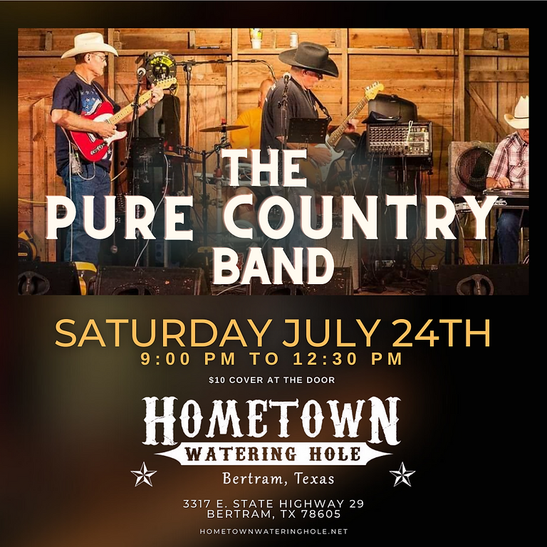 The Pure Country Band at Hometown Watering Hole