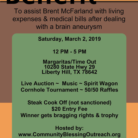 Benefit for Brent McFarland