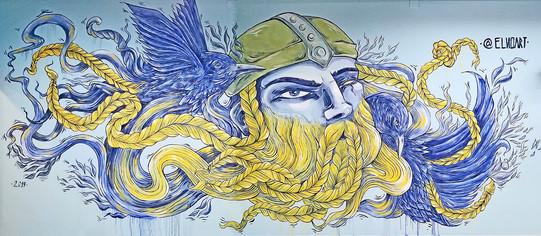 Odín Mural