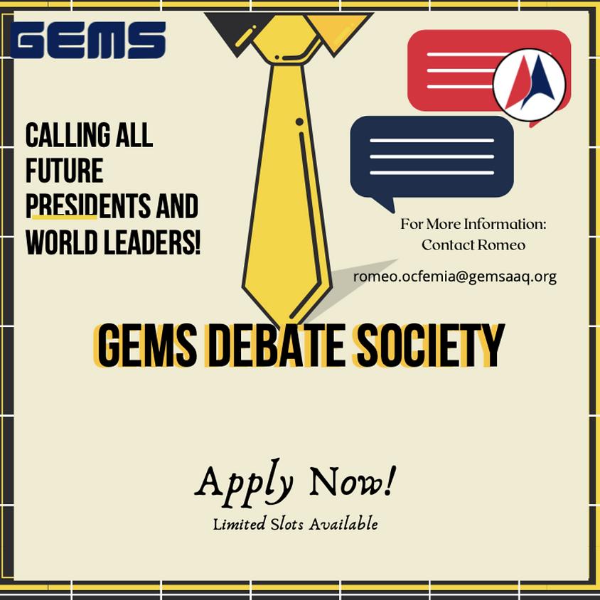 Debate Society Is Recruiting!
