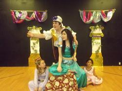Aladdin, Jasmine, and Carpet Girls