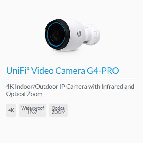 UniFi G4-Pro Video Camera