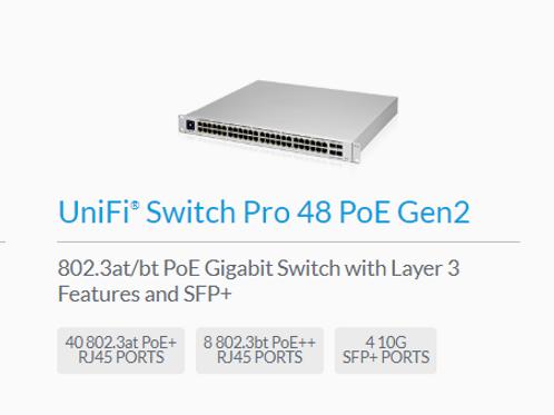 UniFi 48 PoE port switch