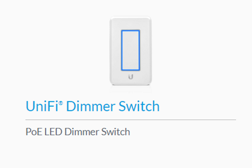 UniFi POE Dimmer Lightswitch