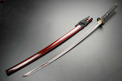 美術刀剣 明智光秀拵え大刀+一本掛け台