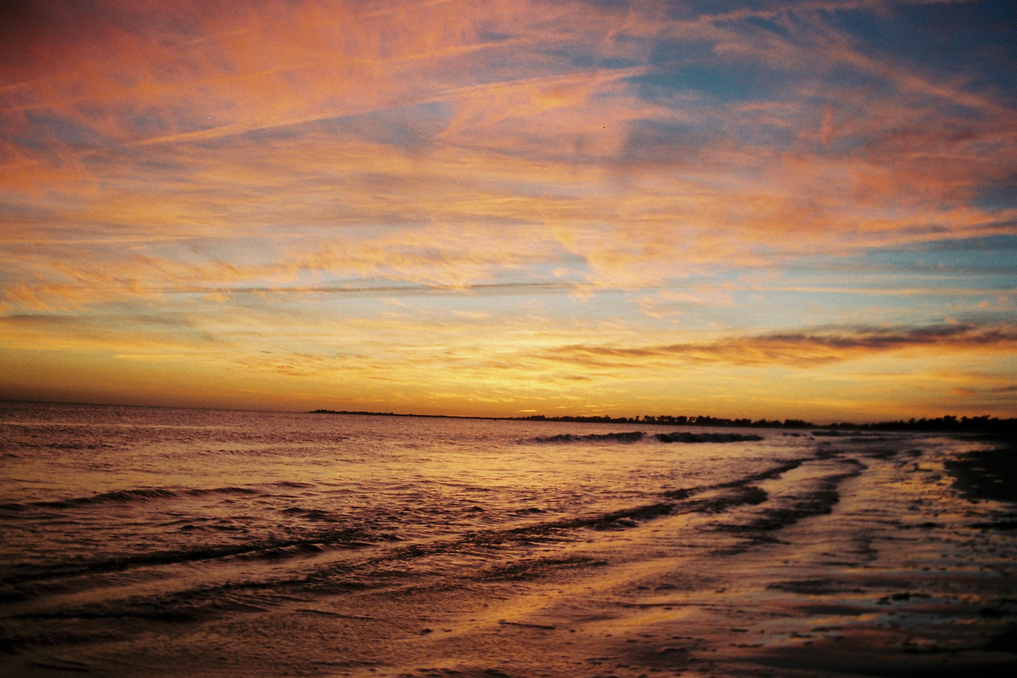 Sunset of island