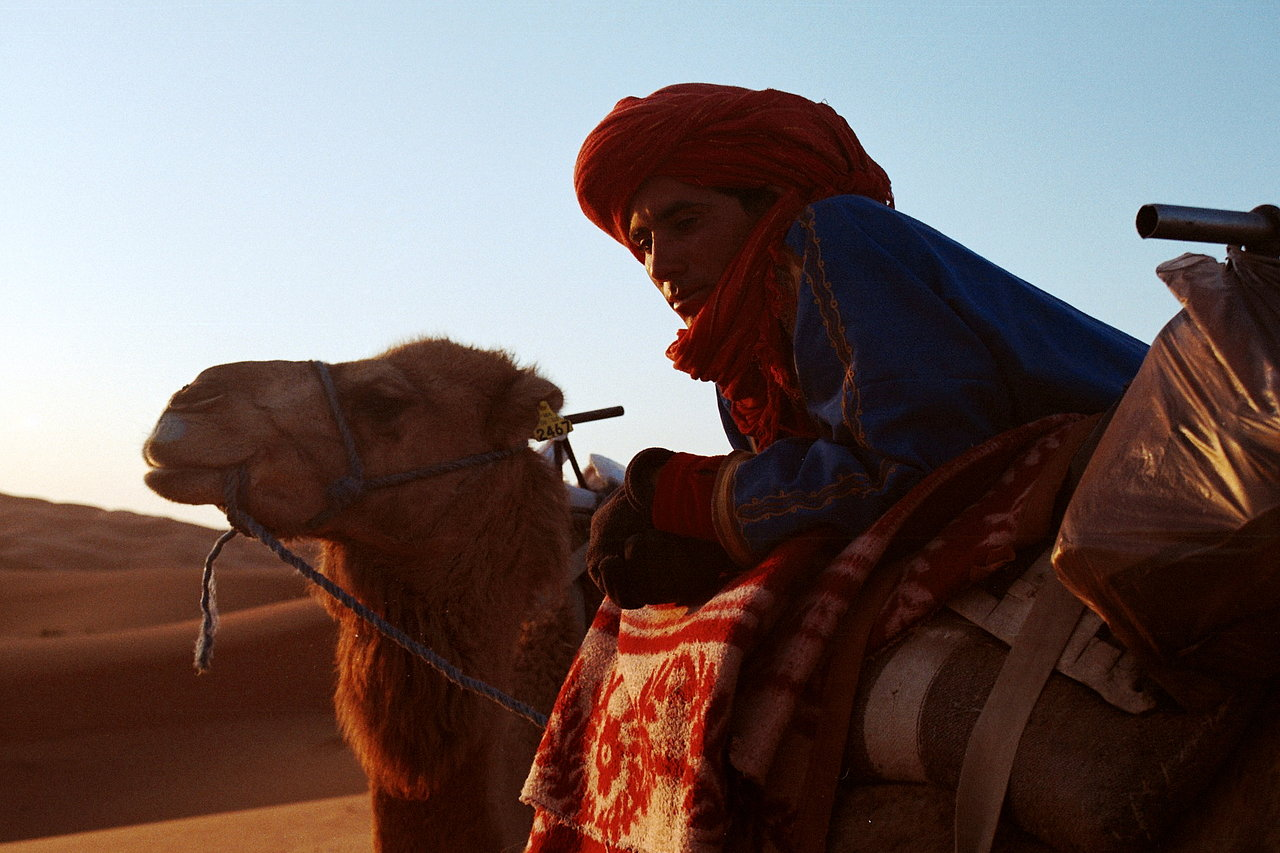 Camel and the guide