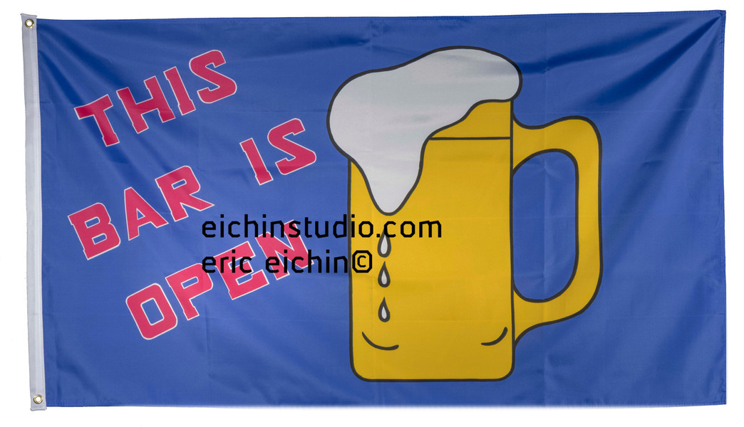 this bar is open, flag 5x3