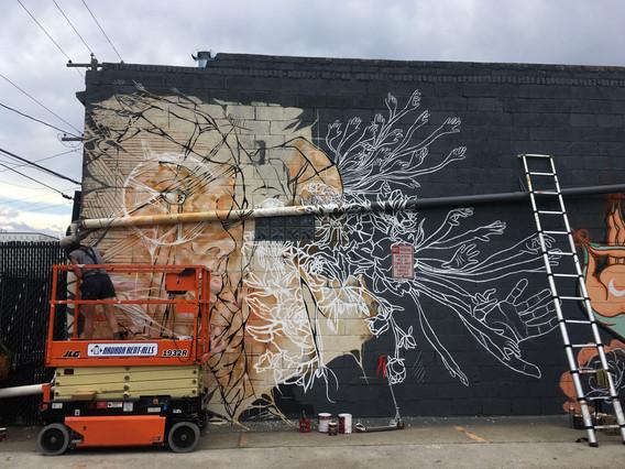 Modern Nomad Denver Mural Collaboration.