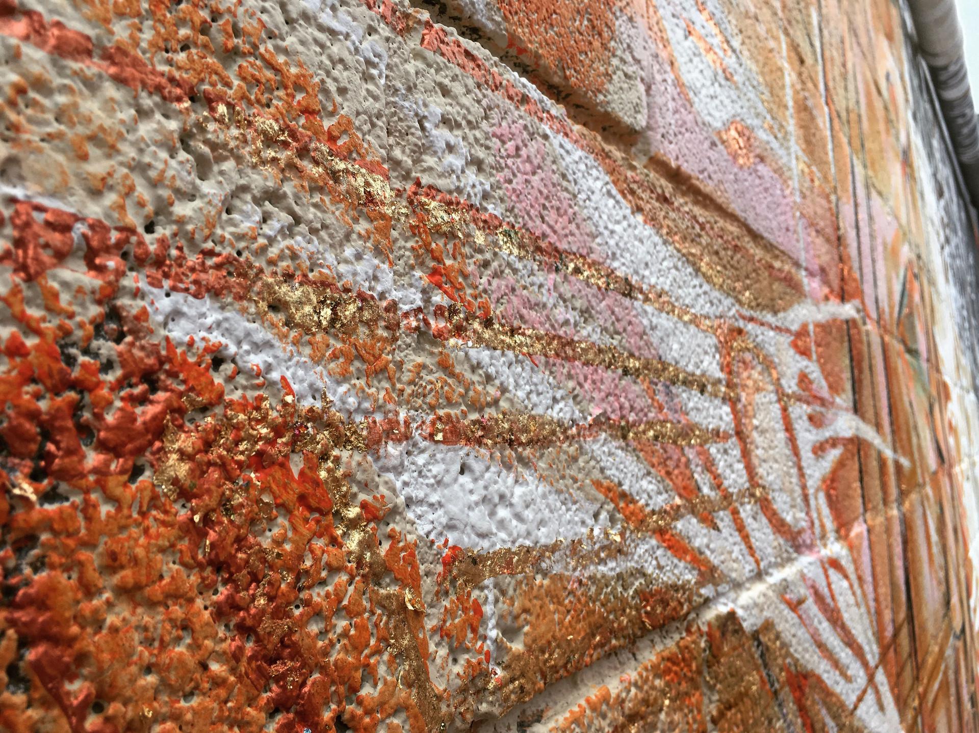 sweet details of copper leaf + paint.._