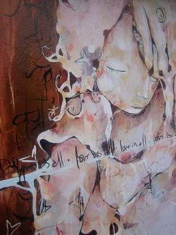 India Mural~ McLeod Ganj, India