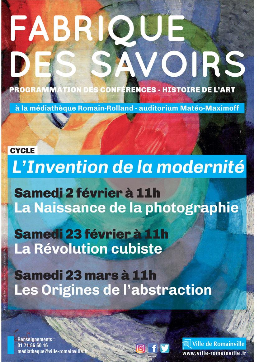 On vous invite à un cycle de conférences en histoire de l'art consacré à L'invention de la m