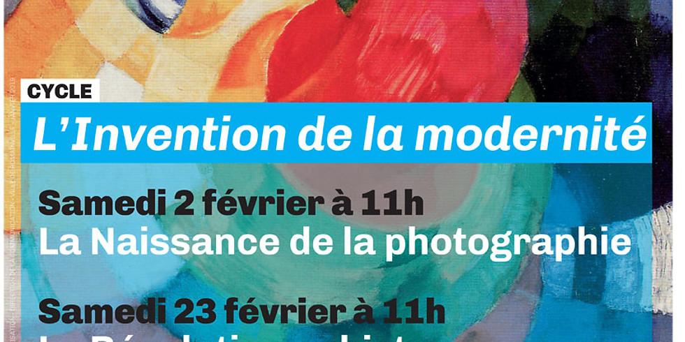 Conférence La naissance de la photographie
