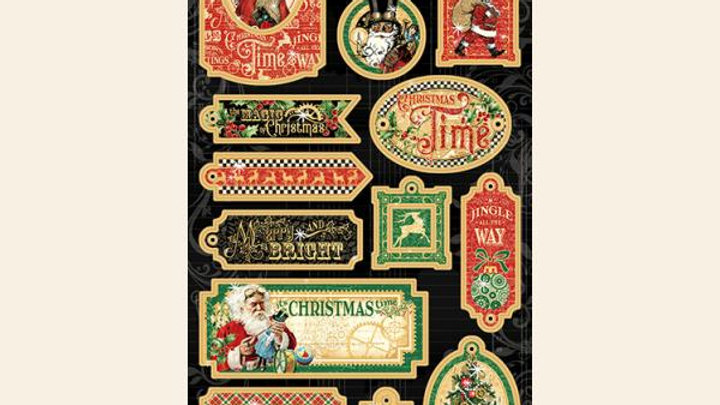 Graphic 45 Christmas Time chipboard