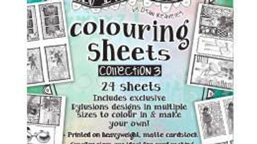 Dylusions  Colouring sheets Collection 3.