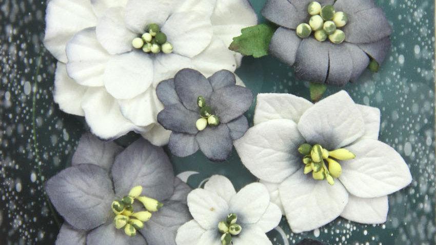 Green Tara Fantasy Blooms Black /white