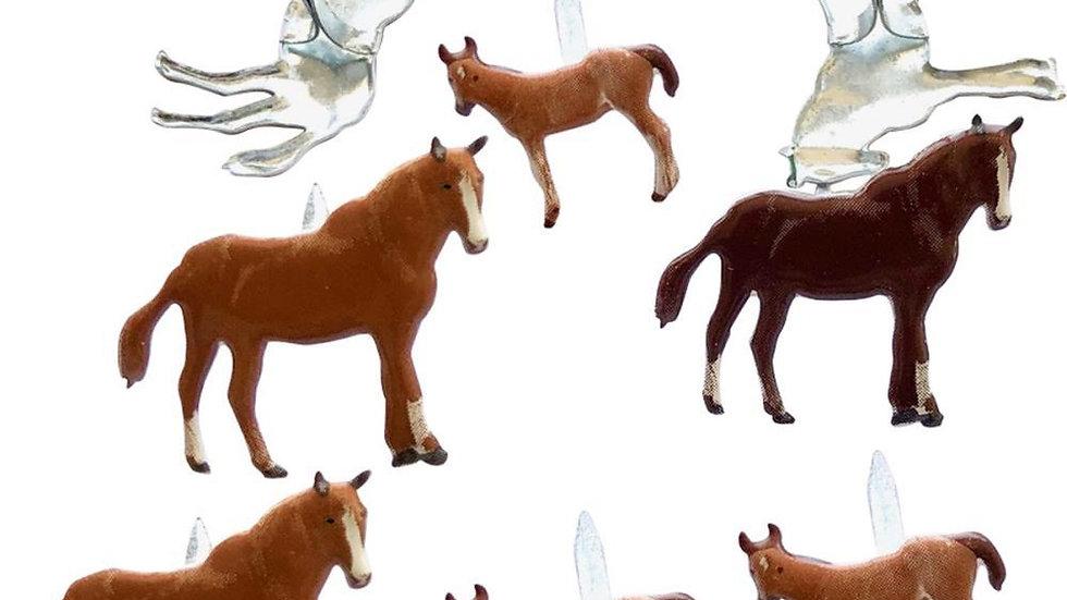 Horse  Brads 12  pieces