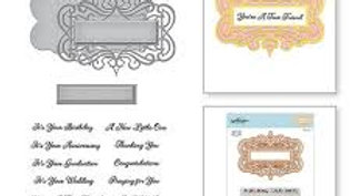 Spellbinders All Occasions sentiments die and stamps