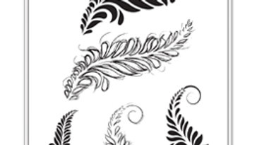Media Stamp Sketched Layered Fronds