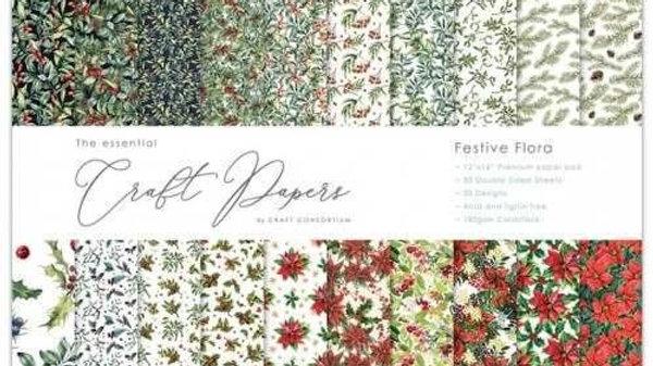 Craft Consortium Festive flora 12 x 12 pad